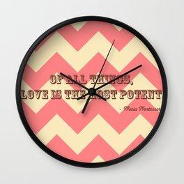 Chevron Love Wall Clock