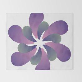 Purple ombre flower spiral Throw Blanket