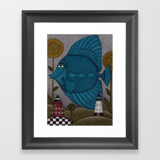 It's a Fish! Framed Art Print