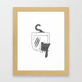 Pocket Cat Framed Art Print