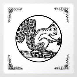 Squirrel by WildArtLine Art Print