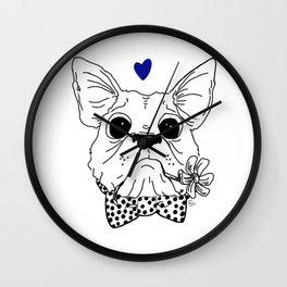 Dapper Frenchie Wall Clock