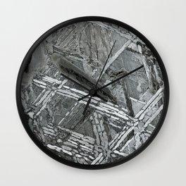 Meteorite structure Wall Clock