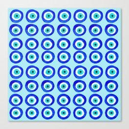 Evil Eye Amulet Talisman - on turquoise Canvas Print