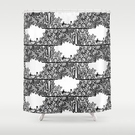 Chai and Cacti IV Shower Curtain