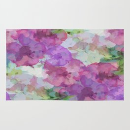 Sweet Peas Floral Abstract Rug