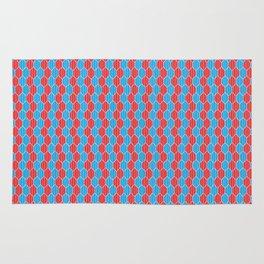 Blue red lozenges Rug