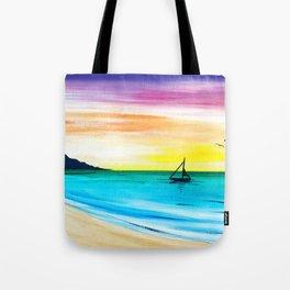 Rainbow Sunrise Acrylic Tote Bag