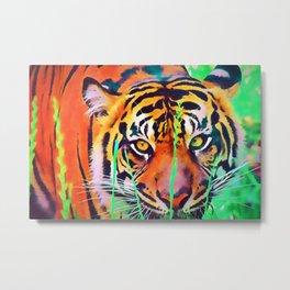 Watercolor Tiger Metal Print