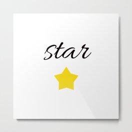 STAR . Metal Print
