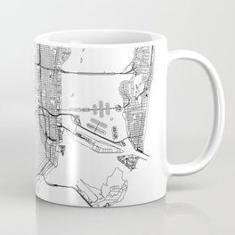 Miami White Map Coffee Mug