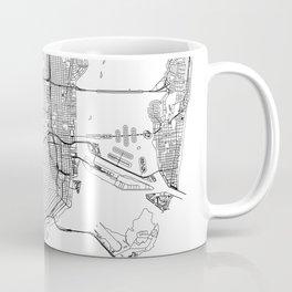 Miami White Map Coffee Mug