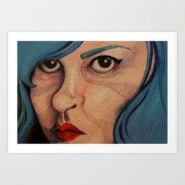 All Angsty Teens Dye Their Hair Blue  Art Print