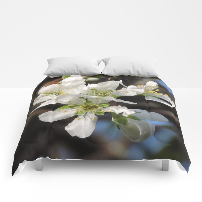 Plum Blossoms Comforters