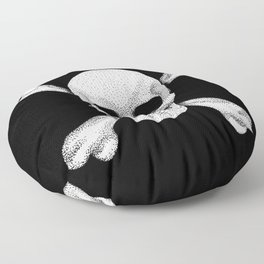Jolly Roger - Deaths Head Pirate Skull Charge Floor Pillow