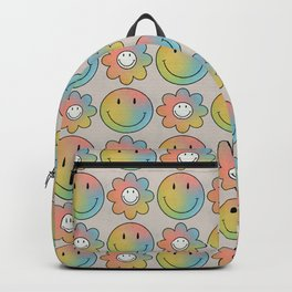 Smiley & Flower Smiley Backpack