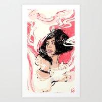 smoke Art Prints featuring Smoke by Annee Schwank