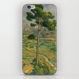 """Paul Cezanne """"Mountain Sainte-Victoire and the Viaduct of the Arc River Valley"""" iPhone Skin"""