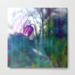 Chequered lily with its magical spirit Metal Print