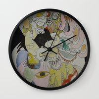 farm Wall Clocks featuring farm by Dan Feit