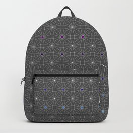 Mesh pattern Backpack
