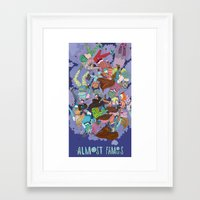 almost famous Framed Art Prints featuring Almost Famous by Borislavaaaawillmadeit