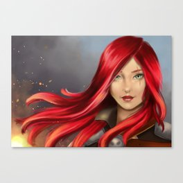 Kissed by the Fire Canvas Print