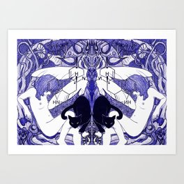 Blue Trip Art Print