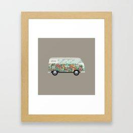Hippie van Framed Art Print