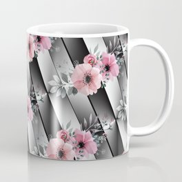 Small Floral Sprays on Mirrored Facets Coffee Mug