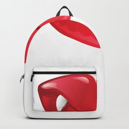 Red Lips with Fangs Backpack