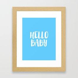 Nursery Decor Baby Room Decor Baby Boy Gift Newborn Hello Baby Hello Sign Nursery Wall Art Kids Gift Framed Art Print