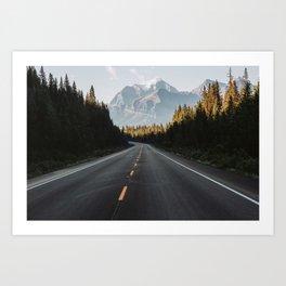 Icefield Parkway Art Print
