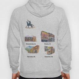 USA Wild West Towns Main Streets - Telluride, Breckenridge, Aspen & Co. Hoody