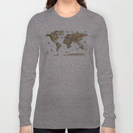World Treasure Map Long Sleeve T-shirt