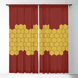 Honeycomb Red Blackout Curtain