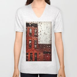 Rainy Day in Brooklyn Unisex V-Neck