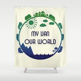 My Van Our World -  Ocean Shower Curtain