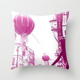 China Town Throw Pillow