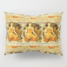 "Alphonse Mucha ""World's Fair, St. Louis, Missouri"", 1904 Pillow Sham"