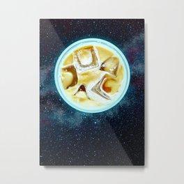 Coffee Latte Planet Metal Print