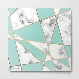 Marble Geometry 055 Metal Print