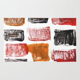 Licorice abstract watercolor Rug