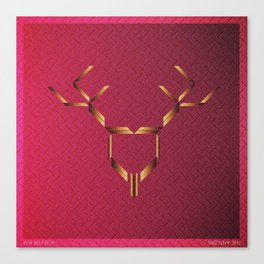 Music in Monogeometry : The Antlers Canvas Print