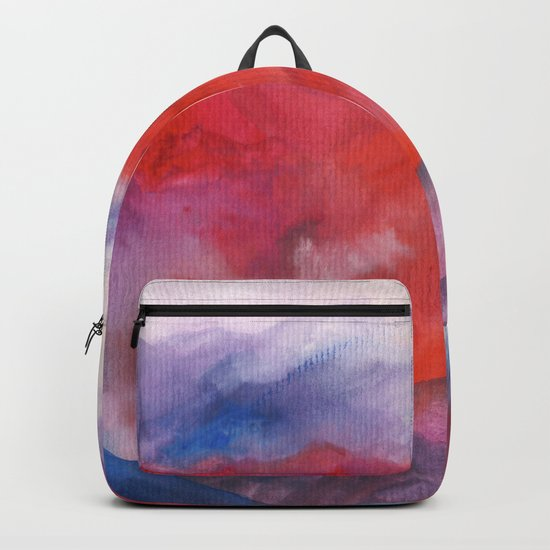 Watercolor abstract landscape 23 Backpack