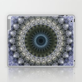 Amethyst mandala with blue star Laptop & iPad Skin