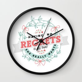 Night Changes Wall Clock