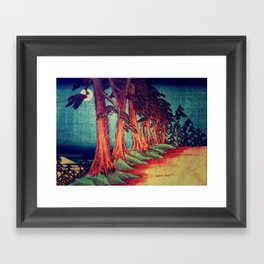 Midnight on the path towards Kanama Framed Art Print