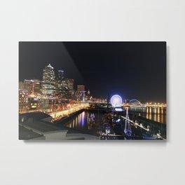 Seattle Skyline (Pier Edition) Metal Print
