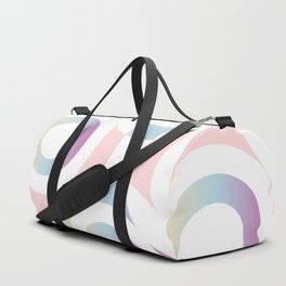 Circle composition in soft pastel colors Duffle Bag